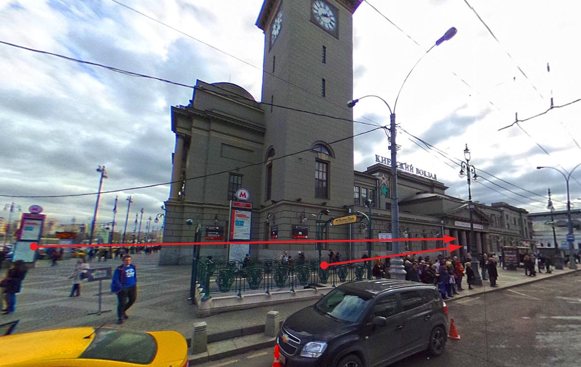 Проход к кассам аэроэкспресс Киевского вокзала